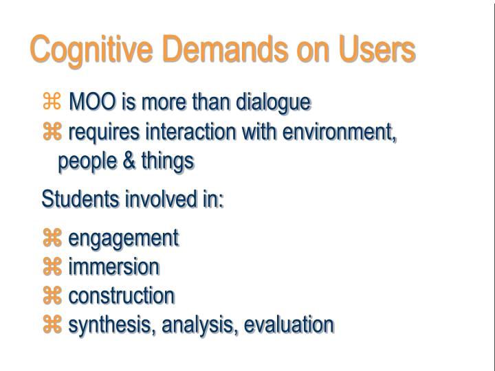 Cognitive Demands on Users