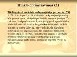 tinklo optimizavimas 2