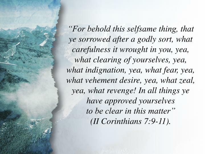 II Corinthians 7:11