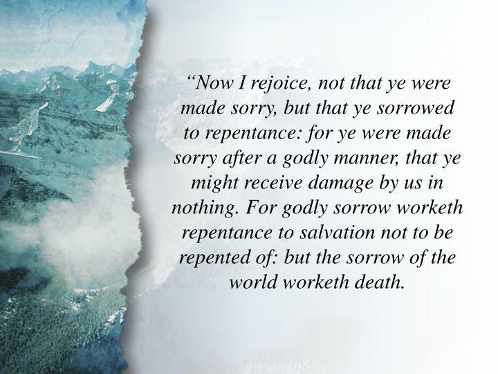 II Corinthians 7:9-10
