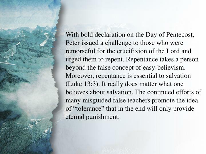 II. Salvation to Be Preached (A)