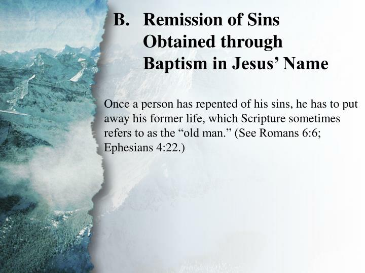II. Salvation to Be Preached (B)
