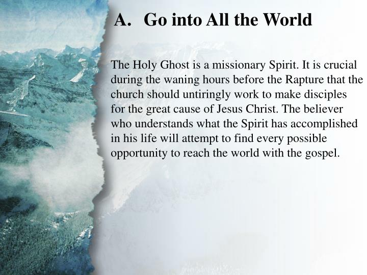 III. The Great Commission (A)
