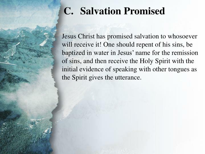 III. The Great Commission (C)