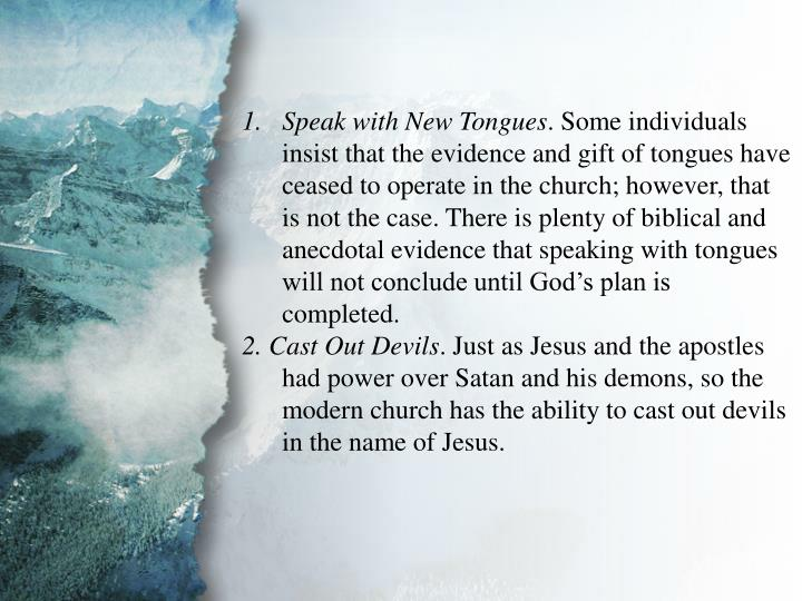 III. The Great Commission (D)