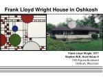 frank lloyd wright house in oshkosh