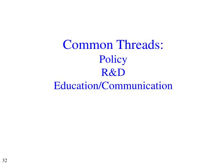 Common Threads: