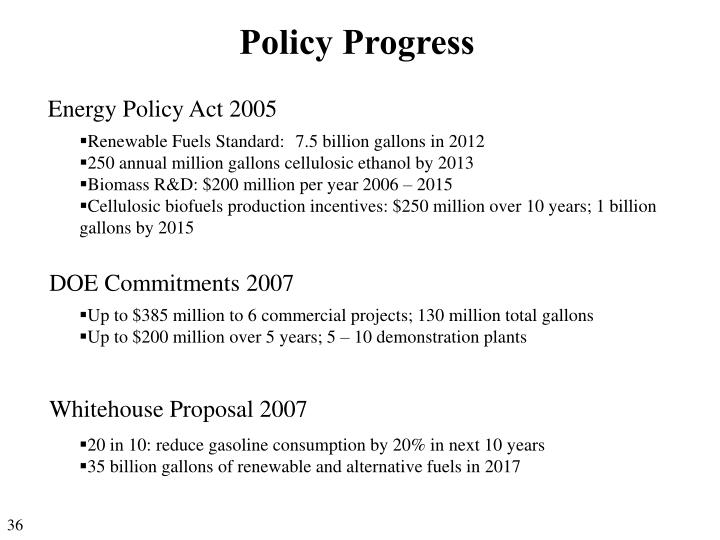 Policy Progress