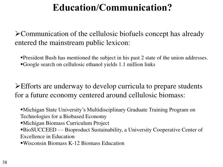 Education/Communication?