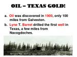 oil texas gold