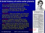 a brief history of extra solar planets