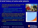 a brief history of extra solar planets1