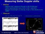 measuring stellar doppler shifts