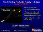 planet hunting the radial velocity technique doppler wobble