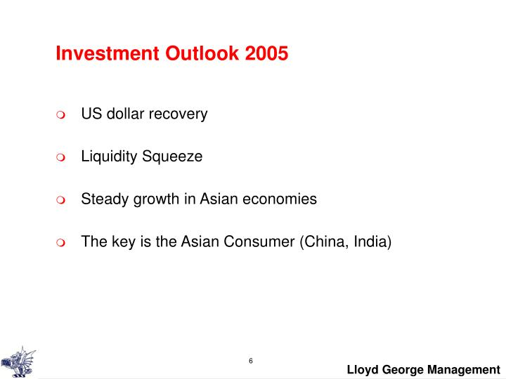 Investment Outlook 2005