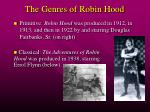 the genres of robin hood