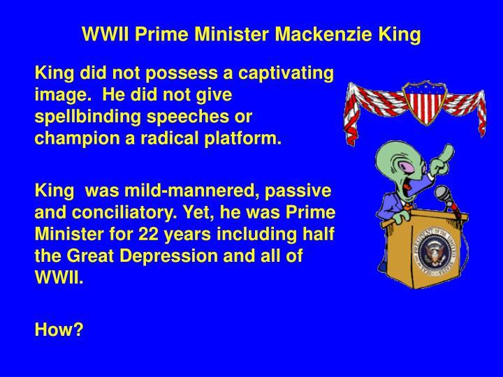 Wwii prime minister mackenzie king1
