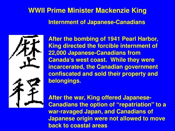 WWII Prime Minister Mackenzie King