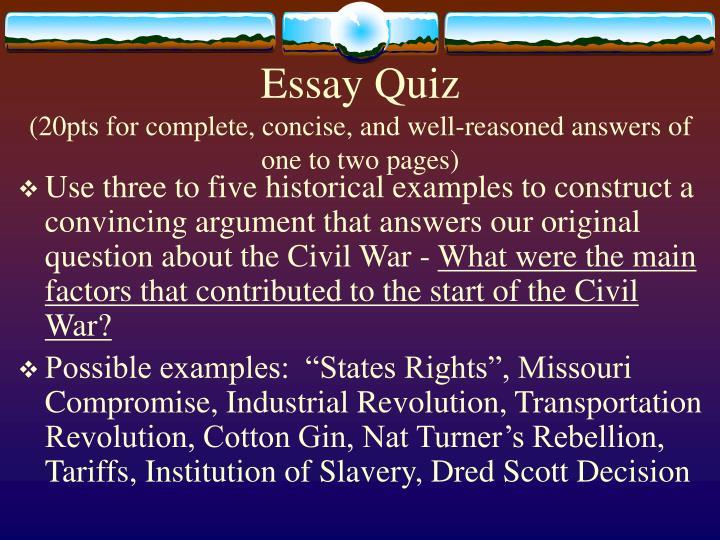 Essay Quiz