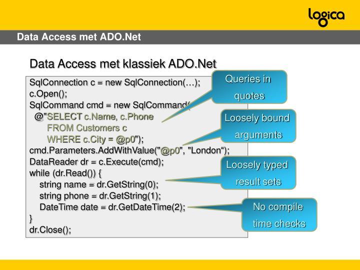 Data Access met ADO.Net