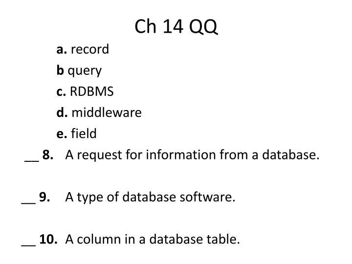 Ch 14 qq2