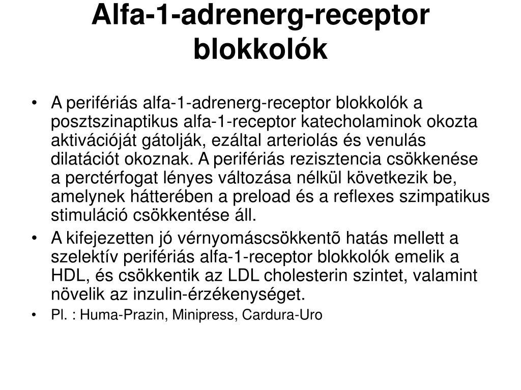 Alfablokkolók - Tudástár