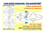 local vertical components from poloidal field