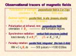 observational tracers of magnetic fields1