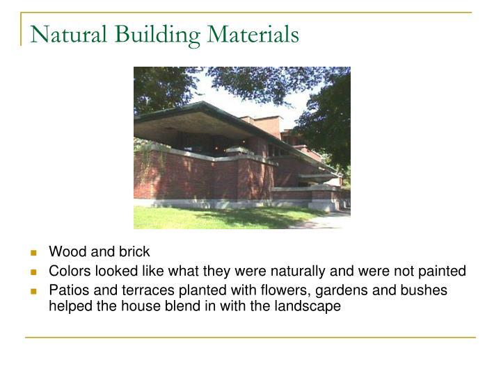 Natural Building Materials