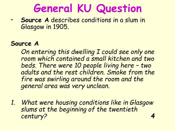 General KU Question