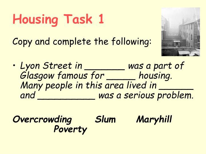 Housing Task 1