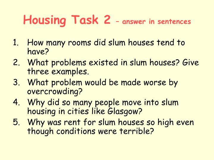 Housing Task 2
