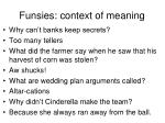 funsies context of meaning