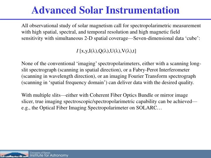Advanced Solar Instrumentation