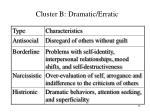 cluster b dramatic erratic