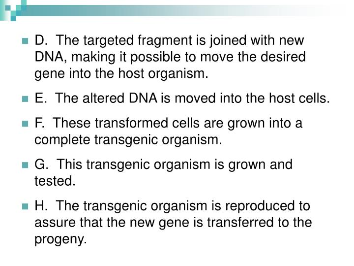 D.  The targeted fragment is joined with new DNA, making it possible to move the desired gene into the host organism.