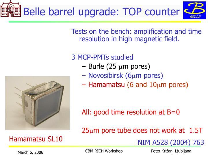 Belle barrel upgrade: