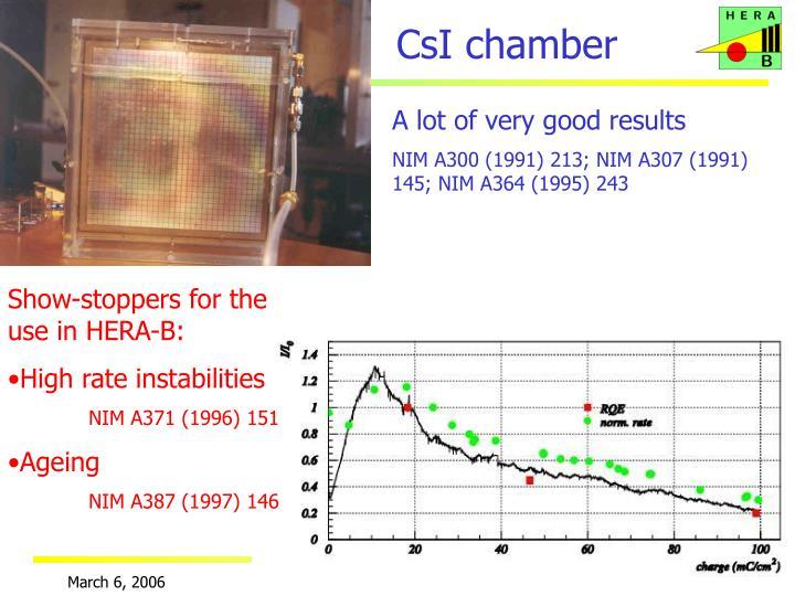 CsI chamber