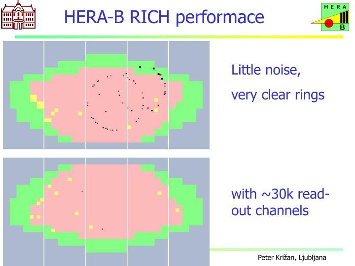 HERA-B RICH performace
