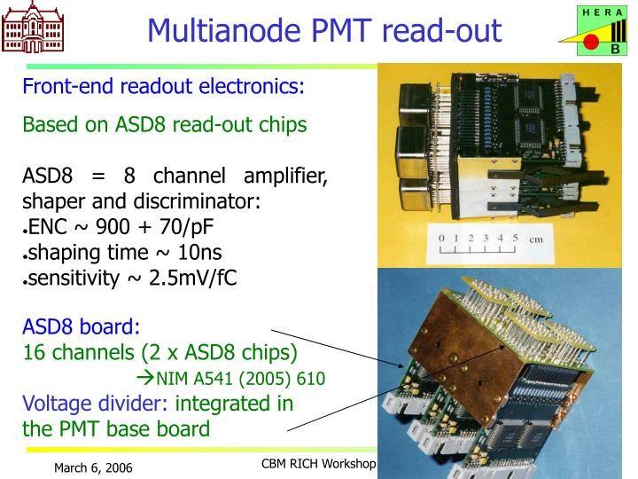 Multianode PMT read-out