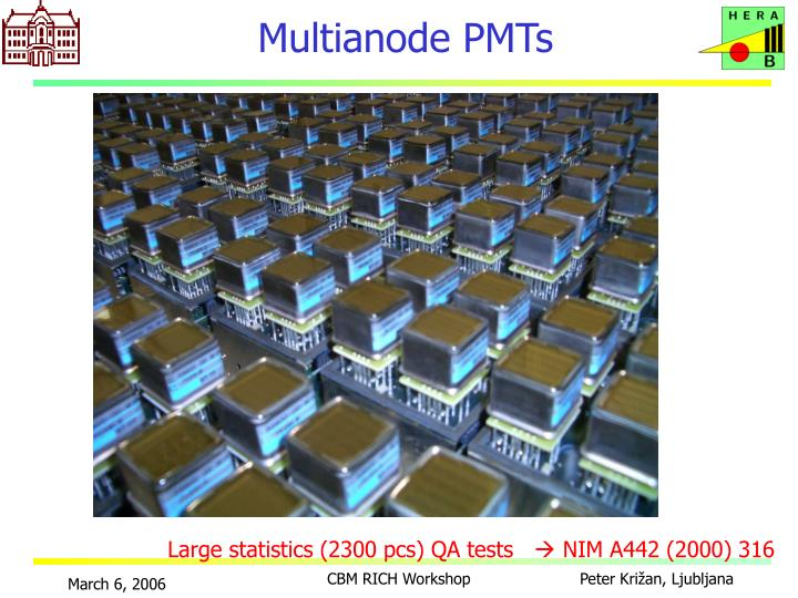 Multianode PMTs