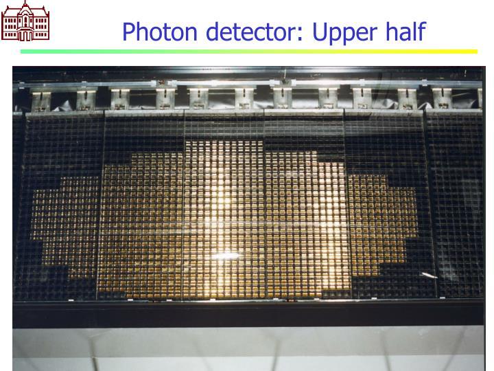 Photon detector: Upper half
