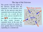the age of the universe1