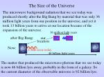 the size of the universe1