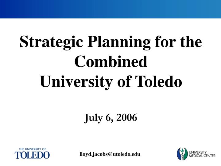 Strategic Planning for the