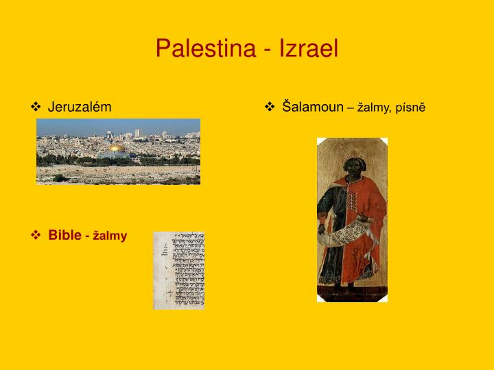 Palestina - Izrael
