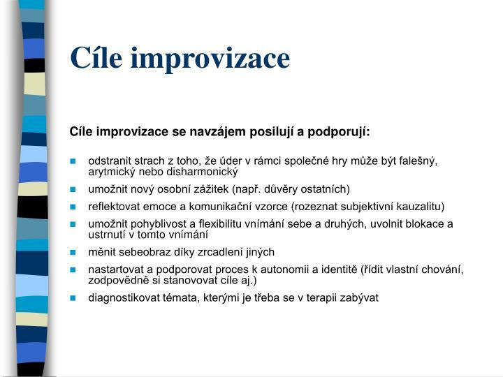 Cíle improvizace