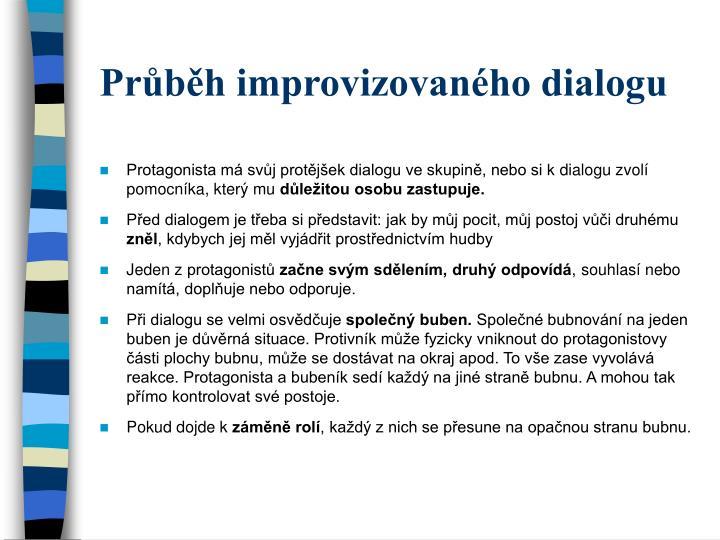 Průběh improvizovaného dialogu