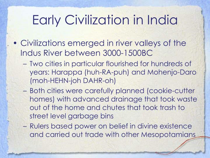Early civilization in india1