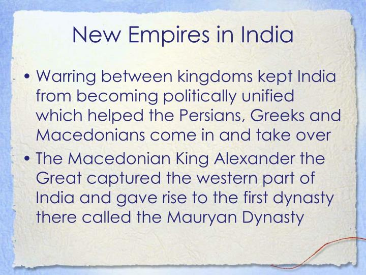New Empires in India